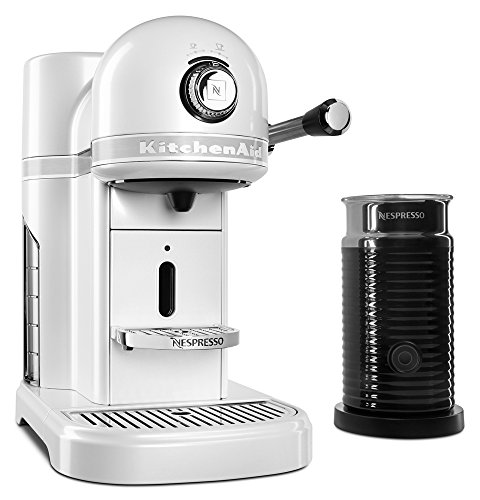 Nespresso Bundle, Frosted Pearl (Kitchenaid White Coffee Maker)