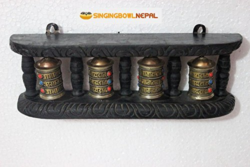 Buddhist Prayer Wheel (Buddhist Four-in-one Wall Hanging Prayer Wheel Hand Crafted in Nepal)