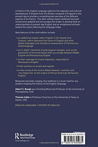 A History of the English Language by Brand: Routledge