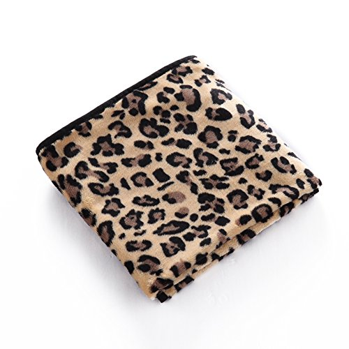 MaruPet Fleece Washable Paw Printed Blanket Doggy Warm Sleeping Mat Dog Cat Puppy Bamboo Cooling Pad Cushion Z-5-Leopard S
