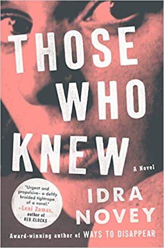 book cover for those who knew by idra novey