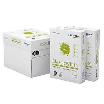 STEINBEIS A4, 80 g/m² papel universal 35 paquetes (17,500 hojas) en 7 cajas: Amazon.es: Oficina y papelería
