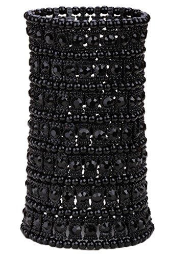 Black And Crystal Cuff - 2