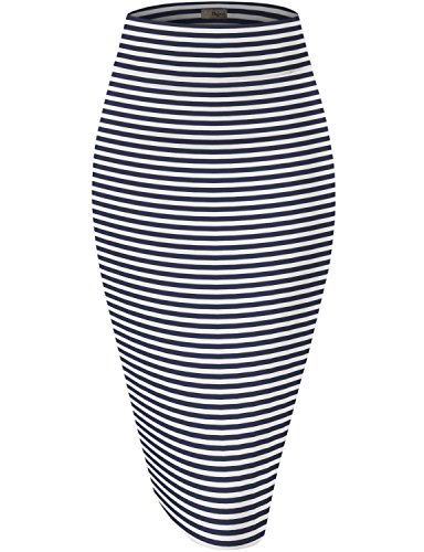 (HyBrid & Company Womens Pencil Skirt for Office Wear KSK43584 2894 Navy XL)
