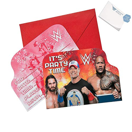 (Bargain World WWE Invitations (With Sticky)