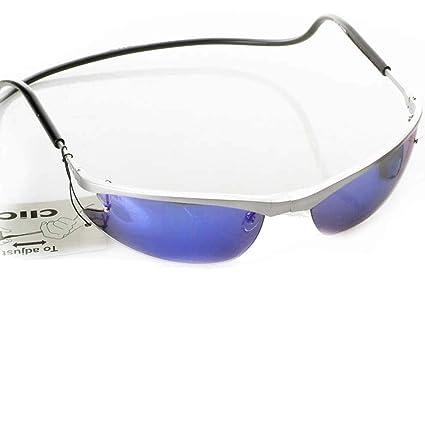 CliC - Gafas de sol magnéticas con montura plateada y marco ...