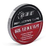 "Flexible Reflective Tape 0.5""X5' DOT-C2 High Intensity Grade White Silver Multipal Size rolls"