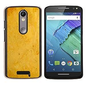 KLONGSHOP // Cubierta de piel con cierre a presión Shell trasero duro de goma Protección Caso - Fondo amarillo - Motorola Moto X3 3rd Generation //