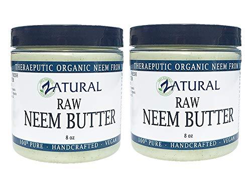 Organic Neem Butter-Shea Butter, Coconut Oil, Neem Oil, Neem Leaf, Marula Oil, Kokum Butter, Rosemary (2 Pack)