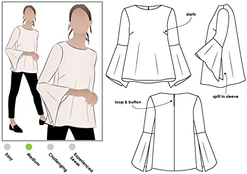 Style Arc Sewing Pattern - Click for Other Sizes Available Sizes 04-16 Lani Woven Tunic