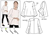 Style Arc Sewing Pattern - Harlow Top (Sizes 18-30) - Click for Other Sizes Available