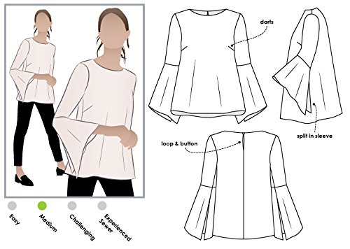 Style Arc Sewing Pattern - Harlow Top (Sizes 18-30) - Click for Other Sizes Available by Style Arc