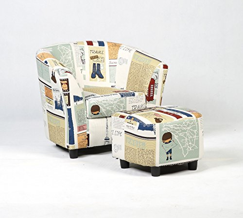 Wood frame+ sponge+canvas Kid Armchair With Ebook by MRT SUPPLY