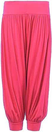 GirlzWalk Kids Harem Loose Baggy Sports Dancing Pants Girl's Harem Children Trouser (Cerise, 9-10 Years Old)
