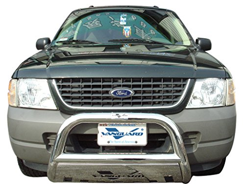 VANGUARD VGUBG-0916-0918SS 2006-2010 Ford Explorer Bull Bar With Skid Plate S/S - Ford Skid Plate