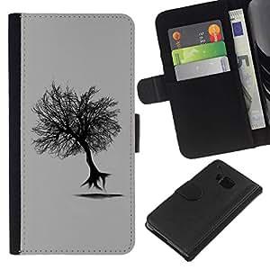 All Phone Most Case / Oferta Especial Cáscara Funda de cuero Monedero Cubierta de proteccion Caso / Wallet Case for HTC One M9 // Flying Tree