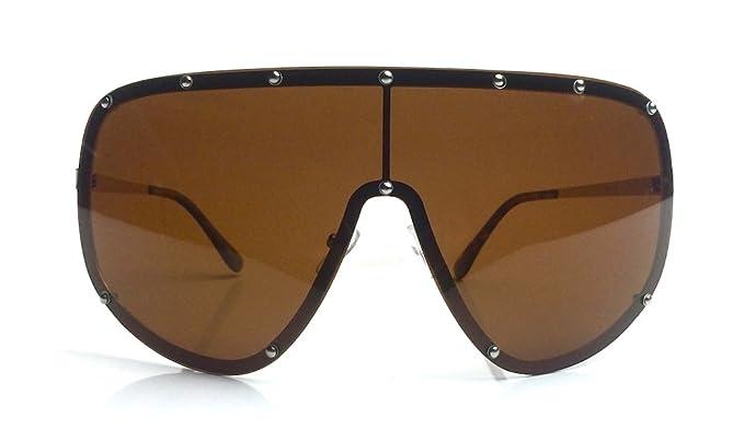 31c07982fb659 Oversized XXL Huge Large Shield Wrap Designer Womens Polarized Sunglasses  (Brown)