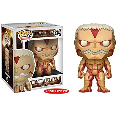 "Funko POP Anime Attack on Titan Armored Titan 6"" Action Figure: Funko Pop! Anime:: Toys & Games"