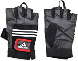 Adidas Leather Lifting Gloves, Large/X-Large, Black