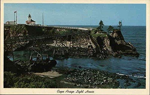 (Cape Arago Light House Coos Bay, Oregon Original Vintage Postcard)