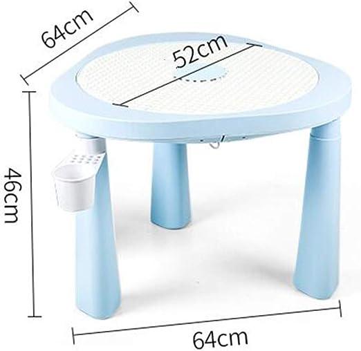 LYF Juego de Mesa y Silla para niños de plástico, Mesa y sillas para Sala de Juegos de Dormitorio Interior al Aire Libre: Amazon.es: Productos para mascotas