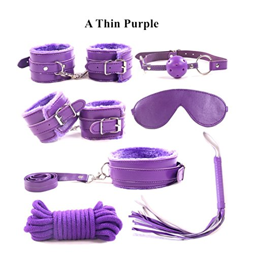 Play Outdoor Indoor Sex Games Adult Games BDSM Bondage Set 7pcs AAA Fauxl Leather Handcuffs Rope Collar Mask Fetish Sex Kit Couples Erotic