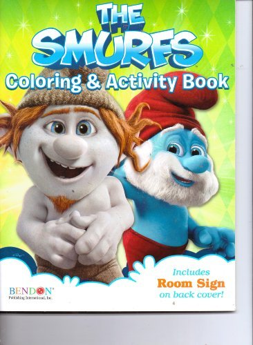 The Smurfs Coloring & Activity Book: 64 Tear & Share Pages! Includes Room Sign! ()