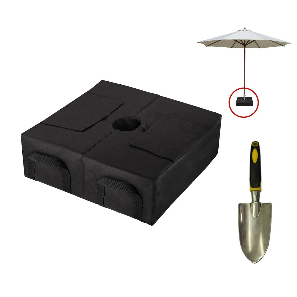 CELEISITE 2-piece Umbrella BASE WEIGHT BAGS, Waterproof Umbrella Stand Weights, 18'' Weight Bags with Shovel for any Offset, Cantilever or Outdoor Patio Umbrella, Easy to Set up by celeisite (Image #1)