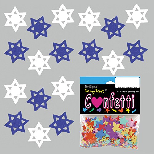 Confetti Star of David Shalom Mix - 2 Half Oz Pouches (1 oz) FREE SHIPPING --- - To Usps Shipping Israel