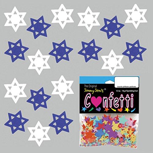 Confetti Star of David Shalom Mix - 2 Half Oz Pouches (1 oz) FREE SHIPPING --- - Shipping Israel Usps To