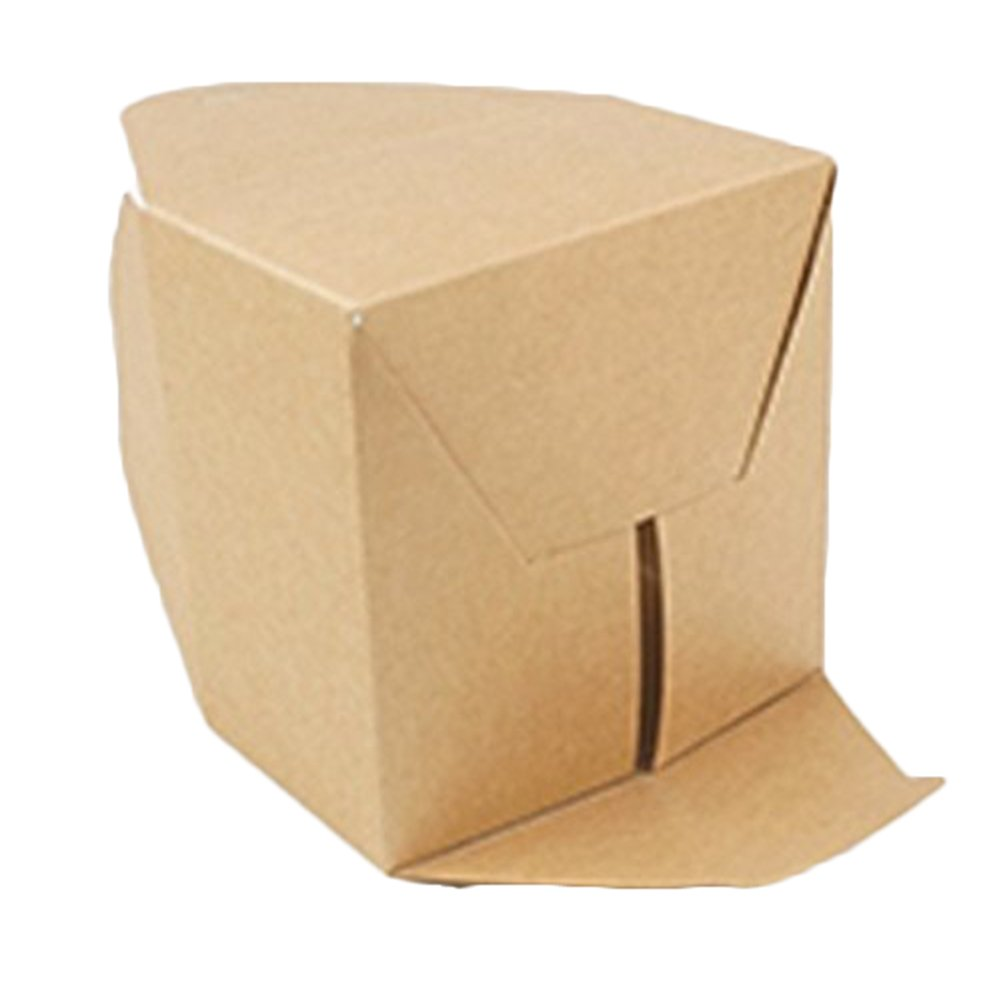 LAAT 5pcs Caja de pastel de papel kraft Caja de papel de galletas Cajas de regalo