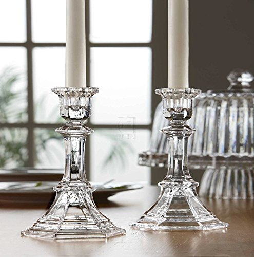 - Fifth Avenue Crystal Newport Candle Holder, 5.75-Inch, Set of 2