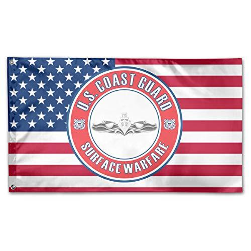 Enlisted Badge - Grace-Ra American Fly Breeze 3x5 Foot Flag - U.S. Coast Guard Surface Warfare Enlisted Badge
