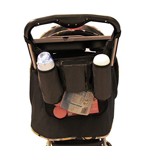 Damero Easy Stroller Travel Carry Buggy Organizer Bag Car Seat Organizer (Black)