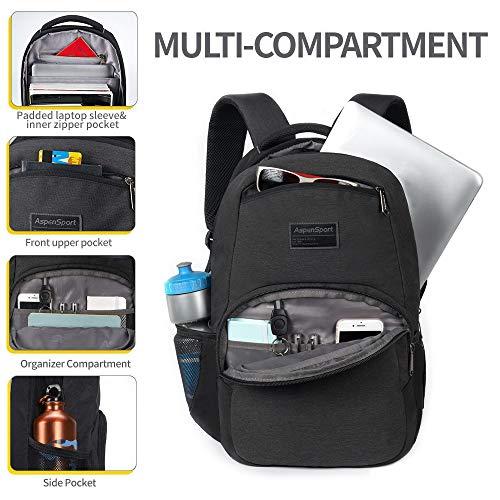 "ASPENSPORT School Backpack fit 15.6""Lightweight Casual Daypack Water Repellent"