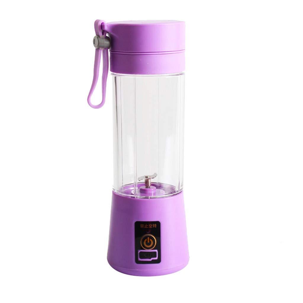 YFancy Summe Portable USB Electric Juice Blender Food Processor Smoot Maker Sport Bottle Fruit Smoothie Cup Mini Travel Blender Household Fruit Mixer (purple)