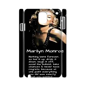 Marilyn Monroe Quote Brand New 3D Cover Case for Samsung Galaxy Note 3 N9000,diy case cover ygtg-779801