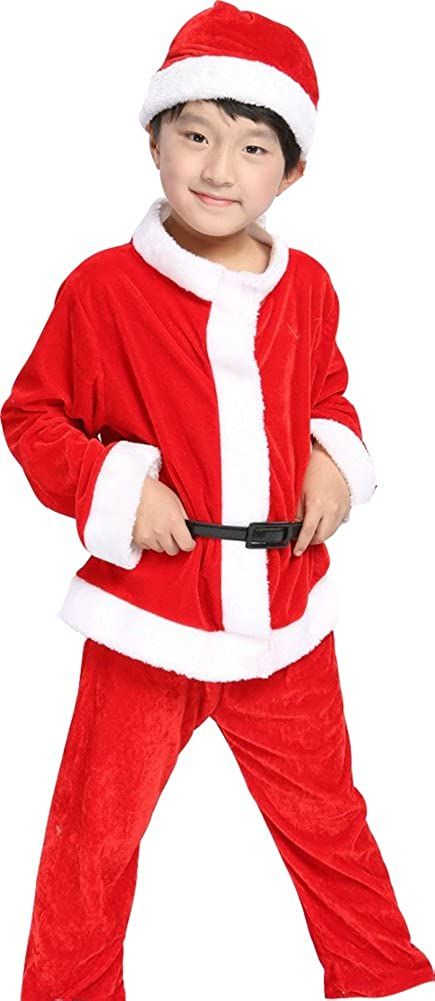 OVOV Unisex Baby Christmas Costume Red Santa Suit Cosplay for Kids Children Gift