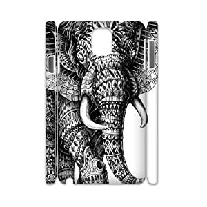 QSWHXN Diy case Elephant Aztec Tribal customized Hard Plastic case For samsung galaxy note 3 N9000