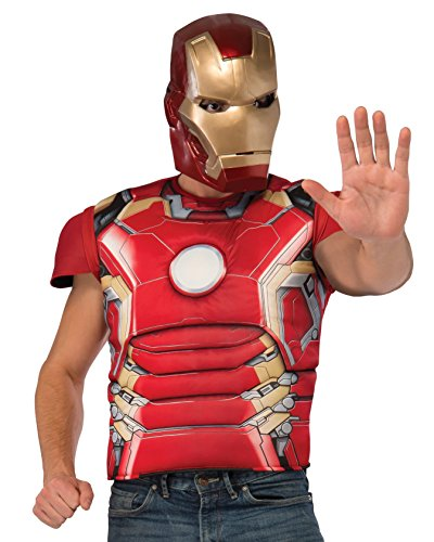 Rubie's Men's Avengers 2 Age Of Ultron Adult Iron Man Mark 43 Inch Costume Top and Mask, Multi, X-Large ()
