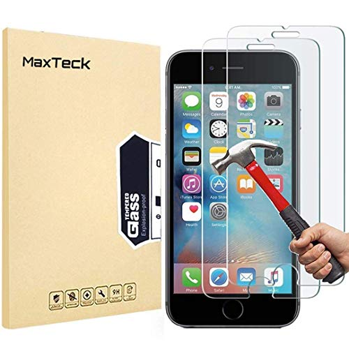 [3 Pack] iPhone 6 6S 7 8 Screen Protector, MaxTeck 0.26mm 9H Tempered Shatterproof Glass Screen Protector Anti-Shatter Film for iPhone 6 6S 4.7 inch [3D Touch Compatible]