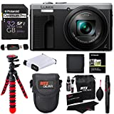 Panasonic ZS60S Lumix 4k Digital Camera 18 MP 24-720mm LEICA DC Lens Silver + Transcend 32 GB Memory Card + Tripod + Battery + Lowepro Case + RitzGear Cleaning Kit + Polaroid Wallet + Accessory Bundle Review
