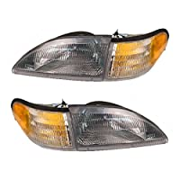 QP F2061/2/3/4-a Ford Mustang excludes Cobra Passenger/Driver Lamp Assembly Headlight 4-pc Set