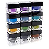SHANY Cosmetics SHANY Masquerade Eyeliner Gel Color Smudge Proof Set, 12 count