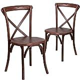 Flash Furniture 2 Pk. HERCULES Series Mahogany Cross Back Chair