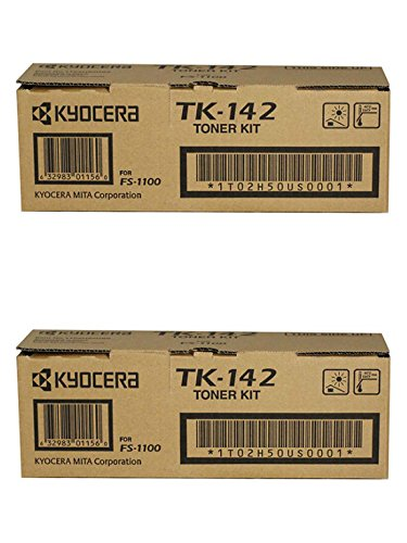 Kyocera TK-142 (TK142) Black Toner Cartridge 2-Pack for FS-1100
