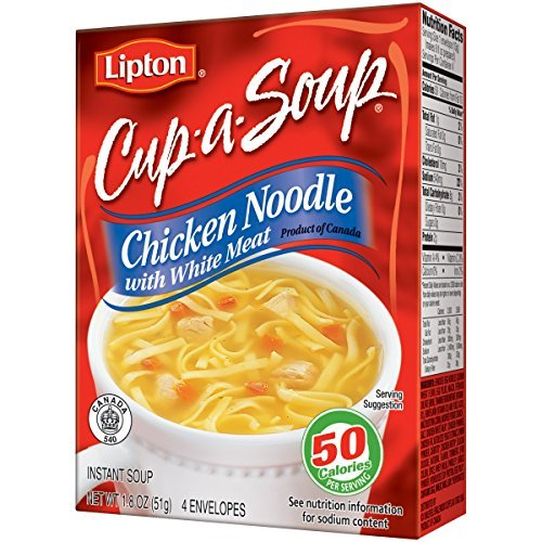 Curly Noodles - Lipton Cup-a-Soup Chicken Noodle Flavor 1.8 Oz (Pack of 4)