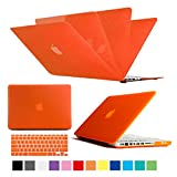 Multi Colors Hard Case Cover & Keyboard Cover Skin Snap On Case Cover For Macbook Air, Macbook Pro , Macbook Retina Display (Orange, Macbook Pro 15'')