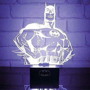 Amazon Com Hui Yuan Batman 3d Lamp Room Bedroom