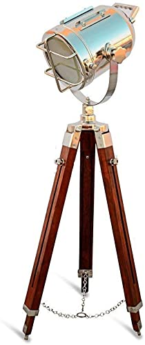 Designer Nautical Spotlight Collectable Searchlight Spot Light Studio Tripod Floor Lamp